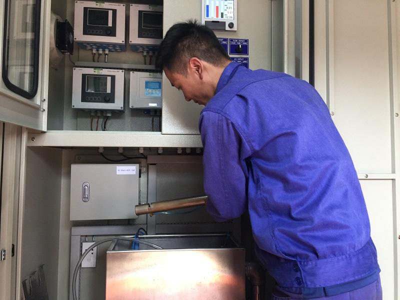 Vận hành trạm quan trắc nước thải tự động - Trạm xử lý nước thải +25 Núi Nhện - Công ty Than Thống Nhất - TKV