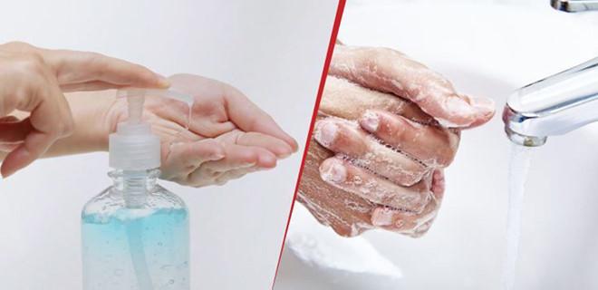 Có thể rửa tay bằng nước với xà phòng hoặc dùng dung dịch sát khuẩn tay