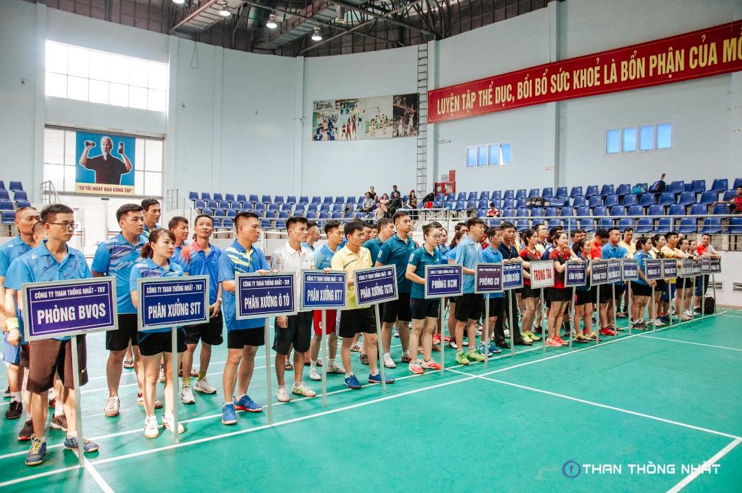 Công ty Than Thống Nhất tổ chức thành công giải cầu lông, bóng bàn phong trào năm 2020